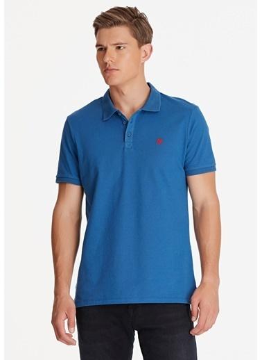 Mavi Polo Yaka Tişört Mavi